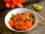 Carrot Salad Recipe-How to make Carrot-Gajar Salad (Indian style)-Carrot Recipes