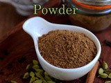 Chai Masala-Indian Tea Masala Powder Recipe-Masala Tea Recipe