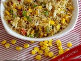 Corn Capsicum Pulao (Rice)-Easy Pulao Recipe