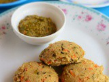 Cracked Wheat Oats Idli-Wheat Rava Vegetable Oats Idli Recipe-Instant Samba Godhumai Rava Idli