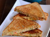 Curd Sandwich-Dahi Vegetable Sandwich Recipe