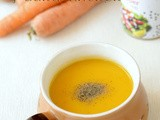 Easy Carrot Soup Recipe-Carrot Ginger Soup-Low Fat Healthy Soup Recipes