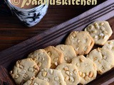 Eggless Cashew nut Biscuits-Kaju Cookies Recipe