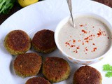 Falafel Recipe-Healthy Easy Falafel Recipe with Yogurt Tahini Dip