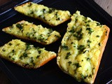 Garlic Bread Recipe-Easy Cheesy Garlic Bread-Quick Garlic Bread with Cheese