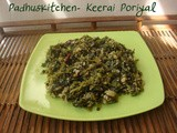 Keerai Poriyal-Greens Stir Fry-South Indian Keerai Curry Recipe