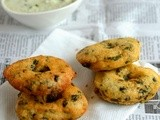 Keerai Vadai Recipe-Keerai Ulundu Vada Recipe-Indian Tea Time Snacks Recipe