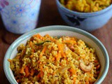 Kodo Millet Carrot Rice-Varagu Carrot Rice Recipe