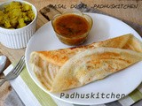 Masala Dosa Recipe-How to make Masala Dosa (potato filling)