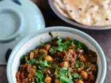 Methi Chole Recipe-Methi Chick Pea Curry-Methi Channa Sabzi