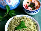 Mint Couscous Recipe-Minty Couscous-Easy Indian Style Couscous Recipes