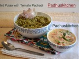 Mint Rice-Pudina Pulao with Tomato Thayir Pachadi