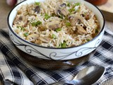 Mushroom Fried Rice Recipe-Indo-Chinese Recipe