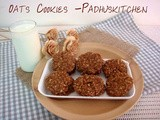 Oats Cookies-Eggless Oats Raisin Cookies