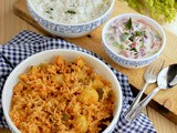 Potato Rice-Potato Capsicum Pulao-Aloo Pulao Recipe