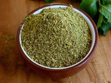 Pudina Podi-Mint Podi Recipe-How to make Pudina Powder