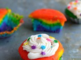 Rainbow Cupcakes-Rainbow Cupcake Recipe from Scratch with Frosting