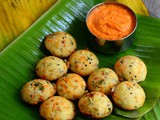Rava Kara Kuzhi Paniyaram Recipe-Sooji Vegetable Appe-Easy Snacks Recipes