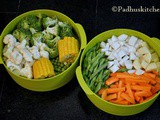 Steamed Vegetable Salad Recipe-How to Steam Vegetables