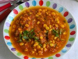 Sweet Corn Gravy Recipe-Makai Ki Subzi-Sweet Corn Recipe