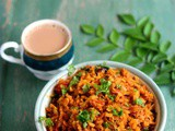 Tomato Poha-Thakkali Aval Recipe-Easy Breakfast-Dinner Recipe