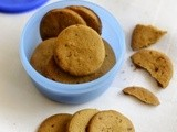 Whole Wheat Biscuits-Healthy Atta Sweet Biscuit Recipe-Tea Time Snacks Recipes