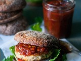 Chicken Burgers and Tomato & Ginger Chutney