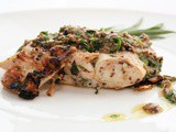 Grilled Halibut with Caper Vinaigrette