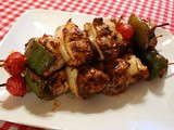 Baked Chili-Lime Chicken Kabobs