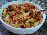 Fried Cabbage w/Crumbled Bacon and Onion