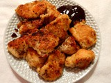 Here's supper... Homemade Sautéed Chicken Nuggets w/Smoky Bourbon bbq Sauce
