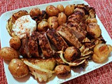 Hungarian Pork Tenderloin with Roasted Potatoes and Cabbage