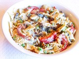 Pan-roasted Red Pepper and Bow-tie Pasta Salad for Your Happy Labor Day Cookout