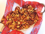 Party with chex party mix with sriracha