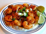 Spicy Garlic-Lime Shrimp with Grits