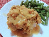 Stuffing-topped Baked Pork Chops with Gravy
