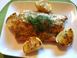 Zesty Grilled Salmon w/Citrus-Dill Butter