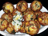 Corn, spinach & rice balls