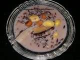 Manipuri black rice kheer