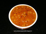 Methamba / sweet and sour raw mango relish