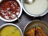 Recipe Contest Winner: Spicy Tomato Gravy, Rice, Dal and Fried Pomfrets