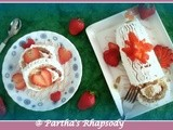 Eggless Strawberry Roulade - Biskuitroulade