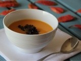 Butternut squash, sweet potato & chorizo soup