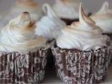 Chocolate, caramel & meringue muffins