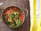 Green lentil & spinach curry