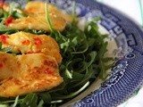 Honey, lemon & chilli halloumi
