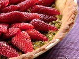 Crostata alle fragole e pistacchi - Strawberry and pistachios tart
