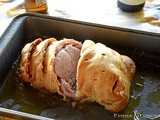 Filetto di vitello in crosta - Veal fillet in pastry with ham