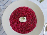 Beetroot and Fresh Rosemary Risotto