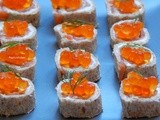 Salmon Pinwheels with Salmon Roe + a Healthy Dinner for 4